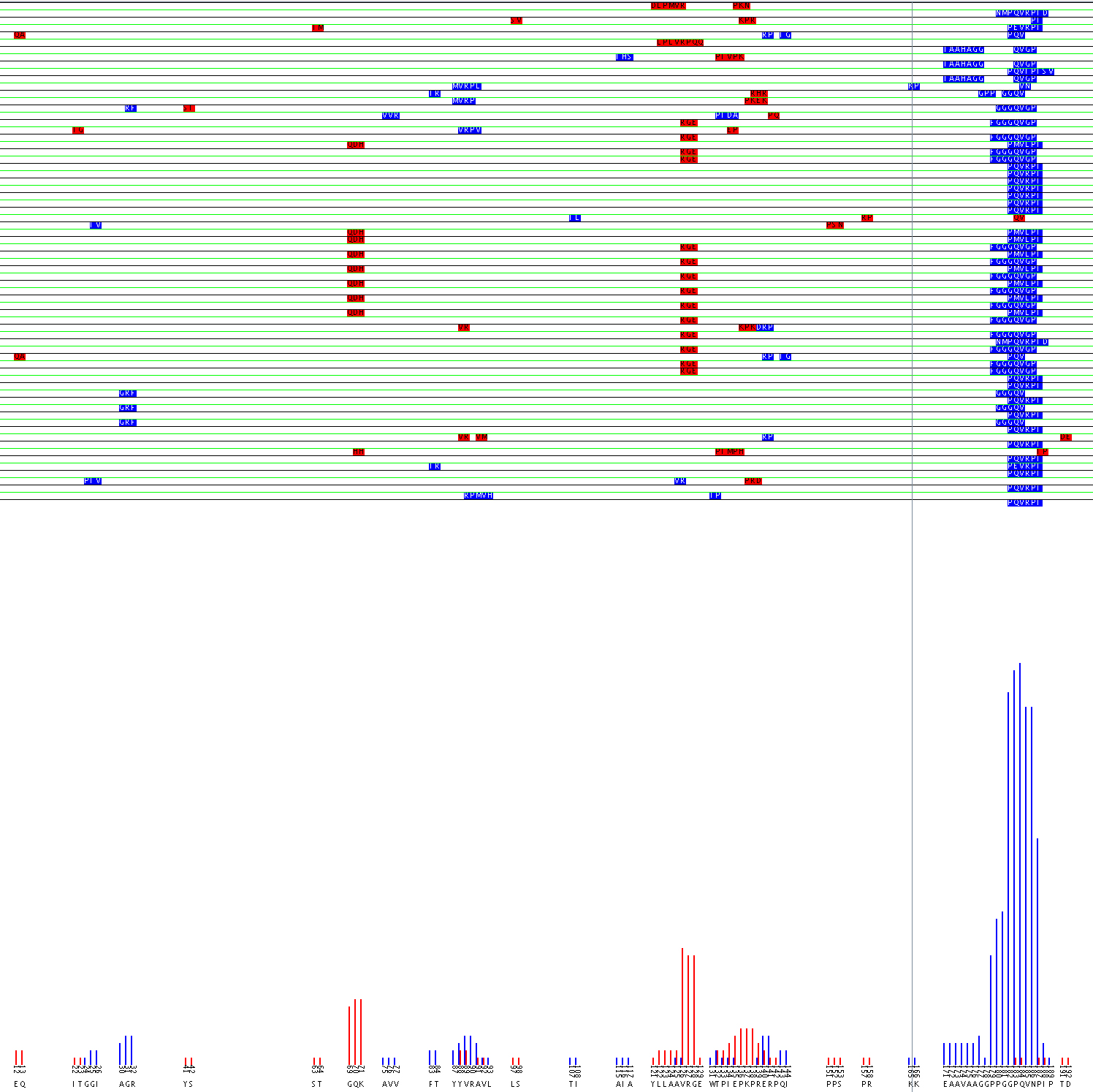 Alignment of Flavocytochome b 558 44.1 epitope using the aligment filter